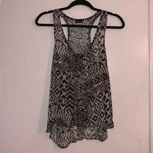 Black and White Tribal Print Tank Top
